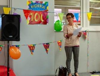 Feest op het ROC – 100e vrijwilliger